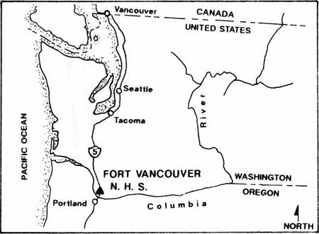 Fort Vancouver Cultural Landscape Report Chapter 2 Volume 1 - Vancouver-on-us-map