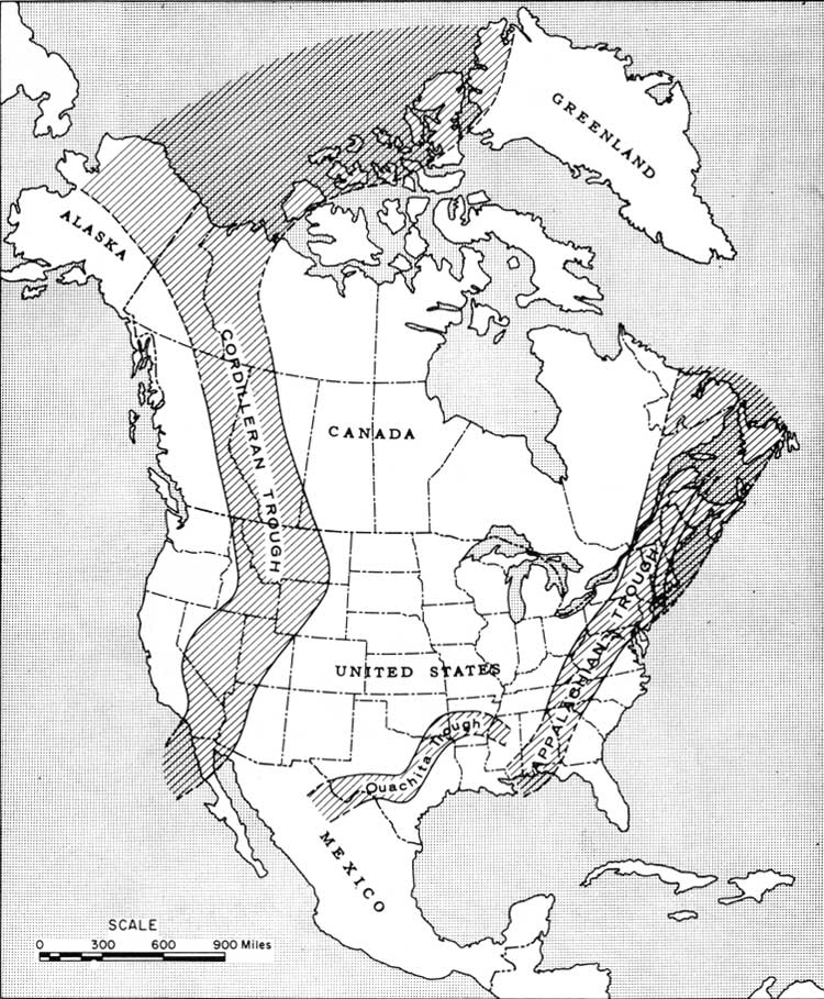 Blank North America Landforms Map 6 outline map of north america