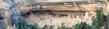 Cliff Palace, Mesa Verde's largest cliff dwelling